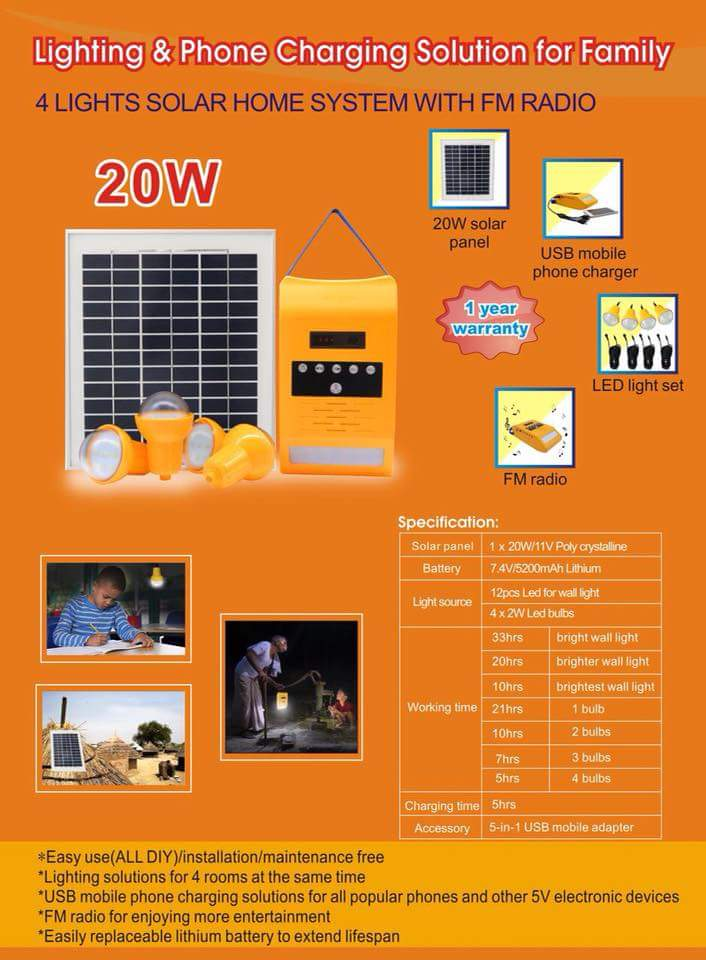solar cell Lighting & charging solution